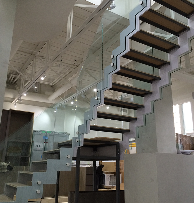 Custom Glass Stairs