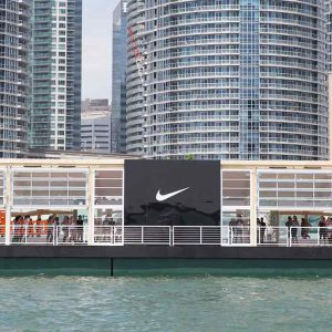 NIKE Crystal Colliseum Barge