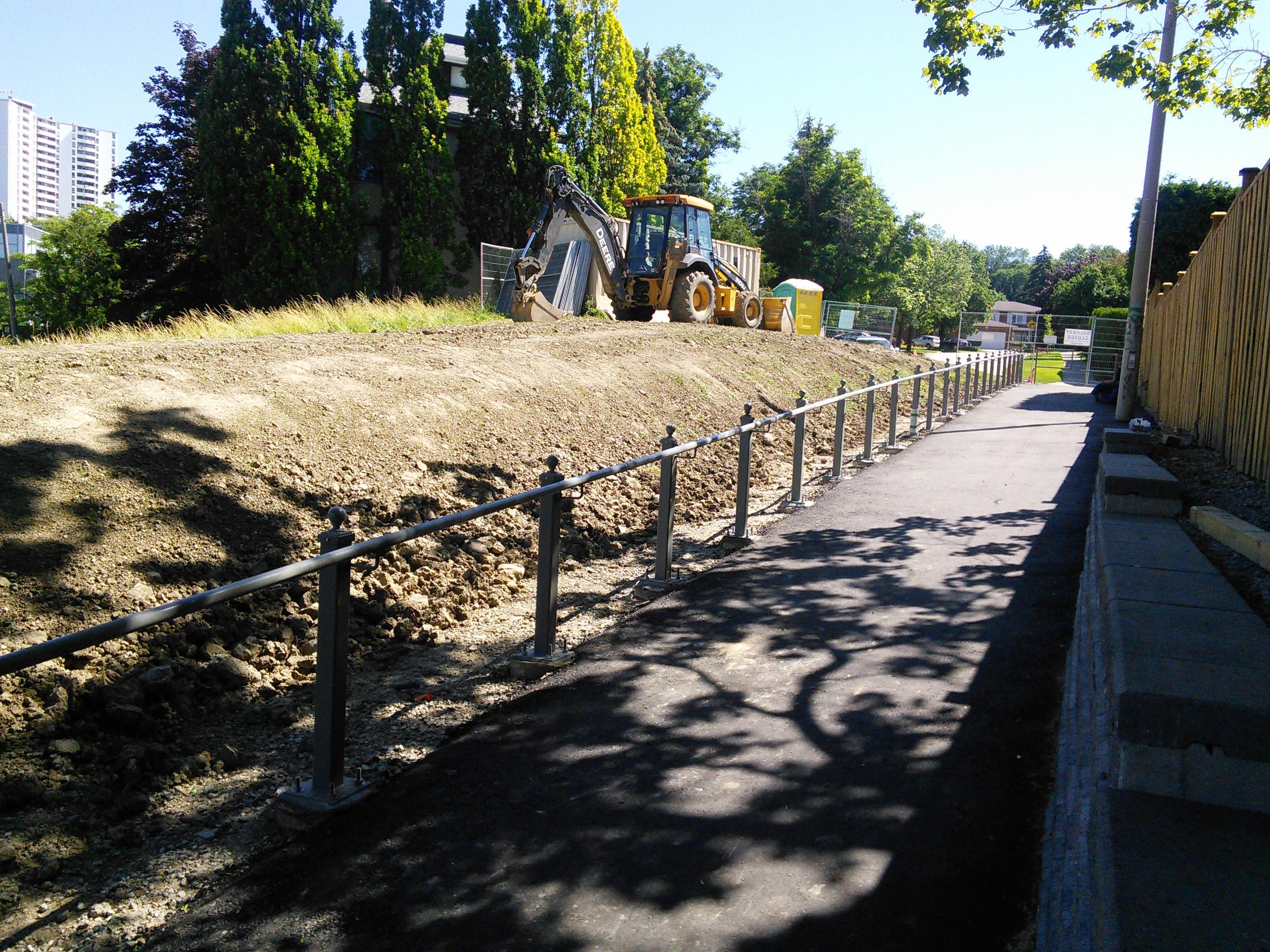 Olsen Dr. walkway rail